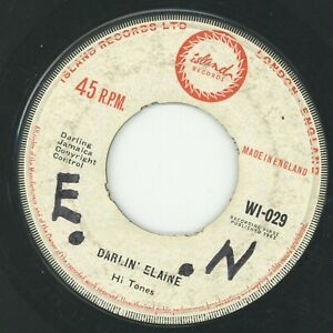 """ DARLIN' ELAINE."" the hi tones. ISLAND RECORDS 7in 1962."