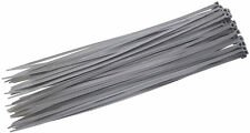 Am-Tech 40PC (3.6 X 300mm) Cable Tie - Silver