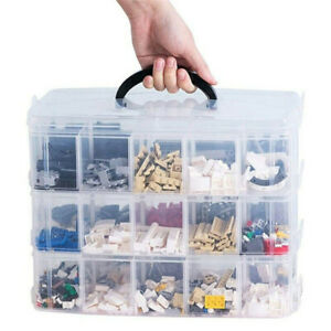 3 Tier Plastic Craft Storage Organizer Box Case With Adjustable Compartments Hom