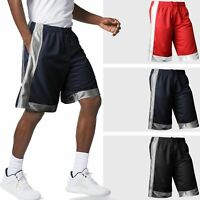 Proclub Mens Basketball Mesh Shorts Premium Heavyweight Two Tone Gym Trainning