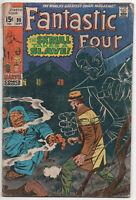 Fantastic Four 90 Marvel 1969 GD VG Skrulls Mole Man Jack Kirby Stan Lee