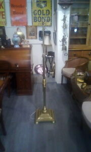 Antique Brass Standard Lamp Heavy