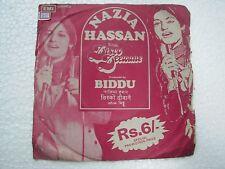 NAZIA HASAN DISCO DEEWANE MUSIC BIDDU rare EP RECORD 45  INDIA 1981 EX
