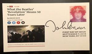 2018 John Lennon FDC 2020 NEWS Headlines Portland Laser Cachet REVOLUTION
