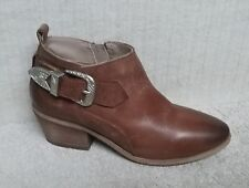 STEVE MADDEN - BRADI - Women's Ankle Boots Bootie - COGNAC Leather - Size 7