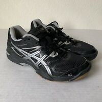 ASICS Gel-Rocket 7 Women's Volleyball Court Shoes Size 8 Black Gray.