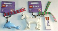 LEGO Friends 850789 White Horse 851576 Blue Dolphin bag charms key chains lot