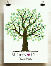 Guest book alternative wedding tree guestbook print 16x20 for up to 100 guests
