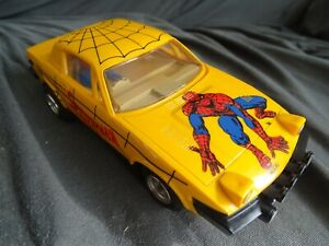 SCALEXTRIC C321 TYPE 2 TRIUMPH TR7 YELLOW SPIDERMAN FULL DECAL 6 SPOT LAMPS VGC