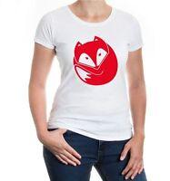 Damen Kurzarm Girlie T-Shirt Fuchs V2 fox Wildtier Rotfuchs Raubtier