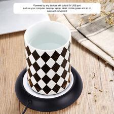 5v Cup Mat USB Coffee Tea Warmer Heater Heating Pad Coaster Tableware Black