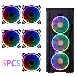Game Eclipse Max RGB 16.8 Million Colours LED Ring PC 12cm Case Fan 5 pack