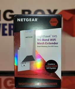 Netgear EX7500-100NAS Nighthawk X4S AC2200 Tri-Band Wi-Fi Extender - Sealed