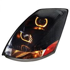 Volvo VN/VNL Projection Headlight with LED Light Bar, Blackout - Driver Side