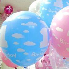 "1 Set/10 Pcs Latex Wonderful Pearlised 1st Birthday Balloons 12"" Girl/Boy's"