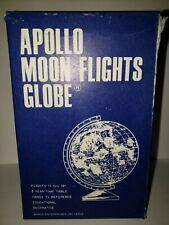 Vintage Apollo Moon Flights Globe Bonus Enterprises INC. 1970 Boulder, CO