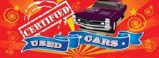 Certified Used Cars Vinyl Banner Sign - 3' X 8'