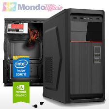 PC Computer WORKSTATION Intel i7 6700 - Ram 16 GB - SSD 240 GB - Quadro K620