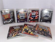 PS3 GUITAR HERO LOT. Pick and Choose