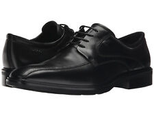 Ecco Men's Illinois US 13 M / EU 47 Black Leather Bike Toe Oxfords Shoes $260.00