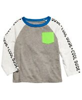 First ImpressionsBaby Boys Cool Dude-Print Colorblocked T-Shirt Size 12 Months