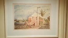 Bermuda Paintings Signed Watercolor Sue Quarles, set of 4 1987 Collectible