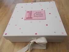 Personalised Baby's 1st Birthday Decorated  Keepsake Box Memory Box