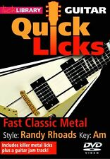 Lick Library QUICK LICKS Rock Metal STYLE RANDY RHOADS Guitar Video Lessons DVD