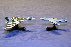 Diecast aircraft Hawker Hunter and Avro Vulcan in good condition