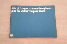 Volkswagen Golf Tutte le Versioni incl. GTI Libretto Uso e Manutenzione 1978 ITA