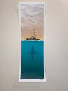 JC Richard Jaws The Invasion S/N AP Poster Print Handbill Silkscreen Mondo Lmtd