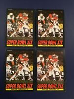 1985 Topps # 9 SUPER BOWL XIX 49ERS 38 DOLPHINS 16 Lot of 4 January 20,1985 WOW