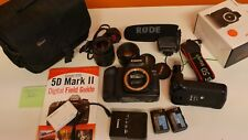 CANON EOS 5D Mark II Mk2 MKII 21.1MP DSLR Body + F1.8 50mm 2 Lens & Extras