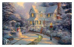 UnFramed Canvas Print Home decor wall Thomas kinkade The Night Before Christmas
