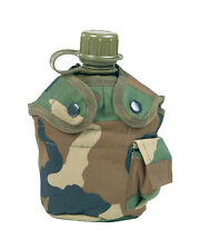 US Feldflasche Kunststoff mit Becher und hülle Woodland Mil-Tec