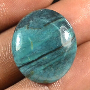 24.30 Cts Tibetan Turquoise Oval Cabochon Natural Gemstone Size 25x22x6mm