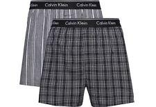 Calvin Klein Mens 'Traditional' Woven Check Boxer Shorts (2-Pack)