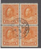 Canada - #122 used block of 4 CDS, a real nice readable cancel!