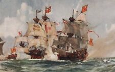 """ROYAL NAVY. The Capture of the """"Lion"""" Scots' Man-o'-War, 1511 1901 old print"""