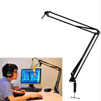 Mic Microphone Suspension Boom Scissor Arm Stand Holder for Studio Broadcast W8
