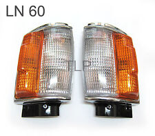 CHROME PAIR CORNER INDICATOR LIGHTS LAMP FOR TOYOTA HILUX LN60 PICKUP 4x4 84-88