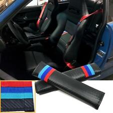 M-Colored Embroidery Carbon Fiber Pattern Seat Belt Cover Shoulder Cushion Pads