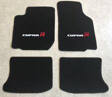 Autoteppiche Fußmatten für Seat Leon Cupra R 1M weiss rot 2farbig 1999-2006  Neu
