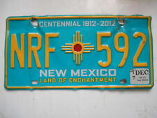 plaque immatriculation  usa new mexico license plate old americaine 592