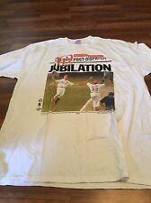 VTG 1998 Mark McGuire St. Louis Cardinals Jubilation 62 Home Runs Shirt Baseball