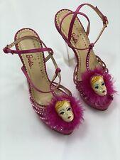 CHARLOTTE OLYMPIA X Barbie ® rose talons hauts-Taille UK 2 - 2.5/Eu 34.5