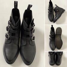 BNWOB - Dr Martens 'Maudie' Black Leather Boots - Sz 6.5