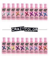 Renbow Crazy Color Semi Permanent Hair Color Cream Dye 100mL You Pick Colour NEW
