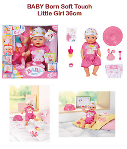 Baby Born Soft Touch Little Girl 36cm (Age 2+) - Zapf Creations