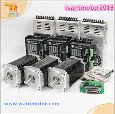 US Free! Wantai 3Axis Nema34 Stepper Motor Dual Shaft 1600oz-in&Driver 7.8A CNC